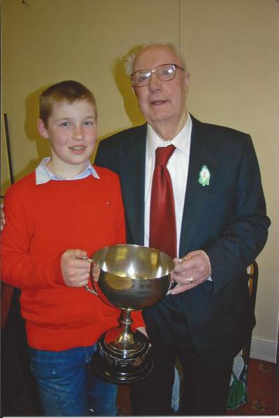 Darragh Curtin Brosna Overall Winner of Perpetual Trophy 2009