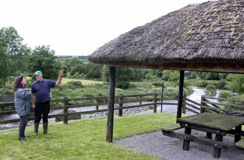 Picnic area on banks of River. Feale on Borders of Co. Kerry, Cork & Limerick