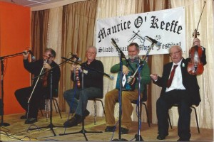Maurice O' Keeffe with Matt Cranitch & friends on the Rig Gig at the Maurice O' Keeffe Weekend in Kiskeam
